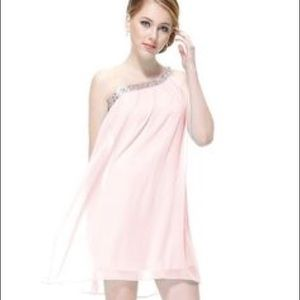 NWT Ever Pretty One Shoulder Pink Party Dress